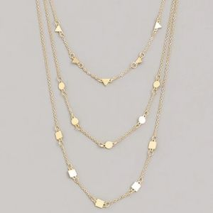 Dainty three layer choker necklace